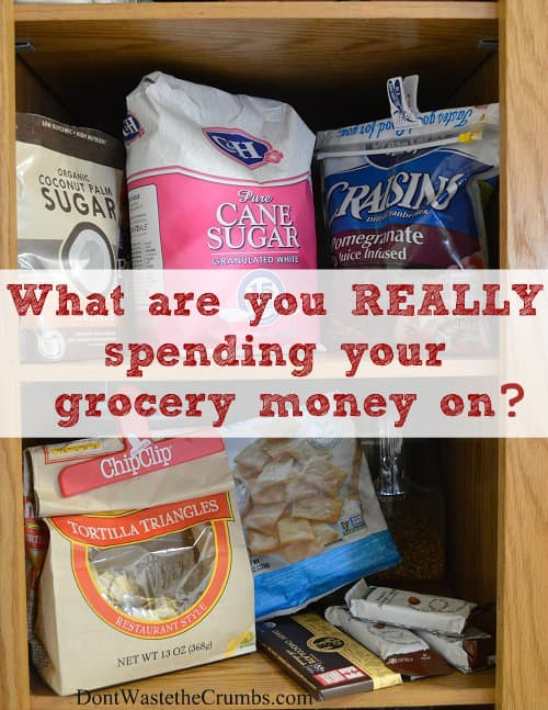 Is your grocery spending out of control? Get grocery budget help: see what you're really spending your money on. It's an eye opener, & will slash your budget! :: DontWastetheCrumbs.com