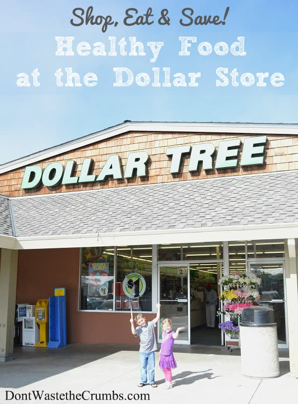 Shop, Eat and Save on Healthy Food at the Dollar Store | DontWastetheCrumbs.com