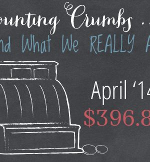 Counting Crumbs and What we REALLY Ate:  April 2014