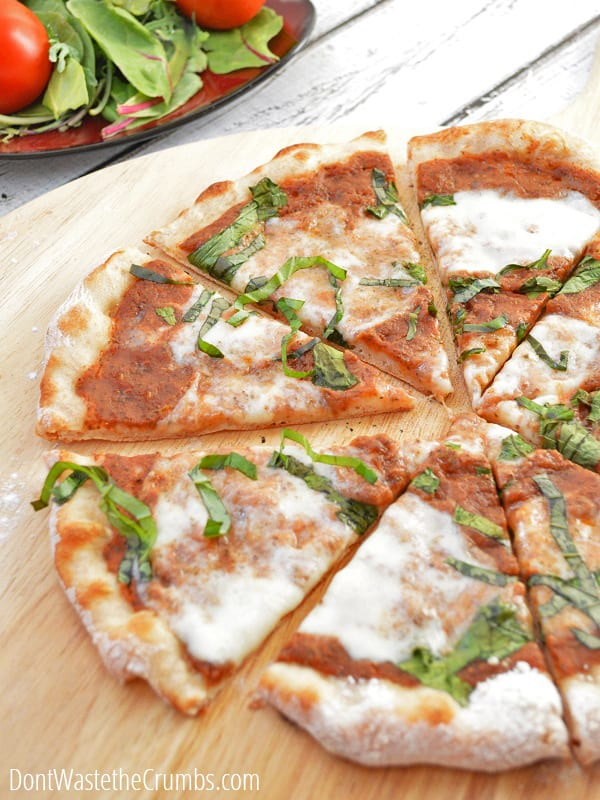 Real food meets your favorite restaurant food in this simple pizza dough recipe. The taste is outstanding and it's so easy to make!