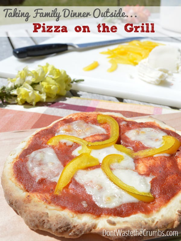 Taking Family Dinner Outside with Homemade Pizza on the Grill :: DontWastethCrumbs.com
