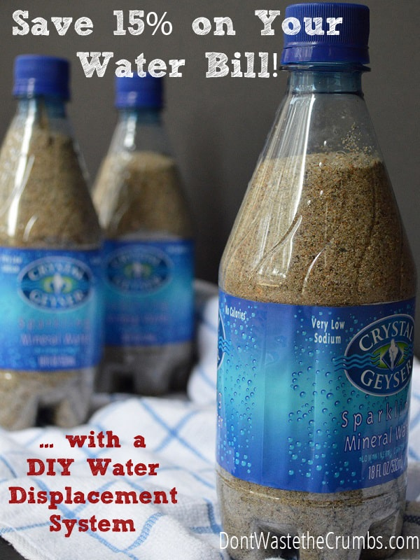 Reduce Your Water Bill By 15 DIY Displacement System