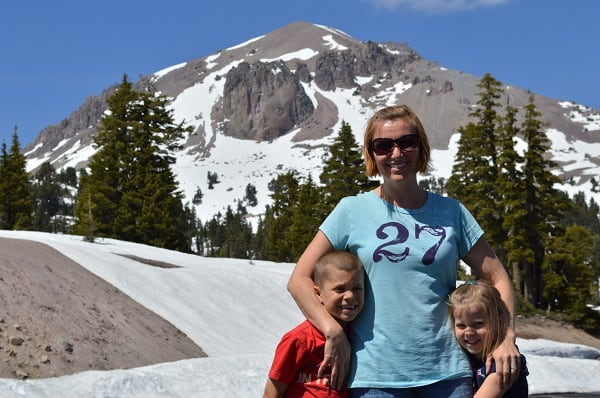 Tiff and Kids Mount Lassen