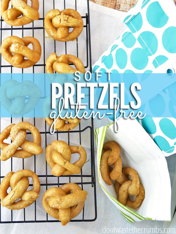 Easy recipe for homemade pretzels. Just like the fair, they're soft and chewy and delicious! Perfect for a school lunch or after school snack, plus the kids can help make them. Clean eating, nothing artifical and 100% real food! :: DontWastetheCrumbs.com
