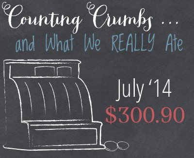 What one family bought in July 2014 in an effort to feed their family of 4 real food with a grocery budget of just $330. :: DontWastetheCrumbs.com
