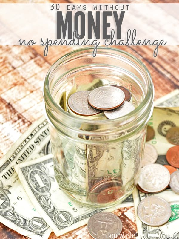 Do you think you could go a month without spending money? Follow one fmaily as they attempt to spend nothing for 30 days - no food, no clothes, no entertainment... nothing! I loved to see how they save money and got creative with what they already had! :: DontWastetheCrumbs.com