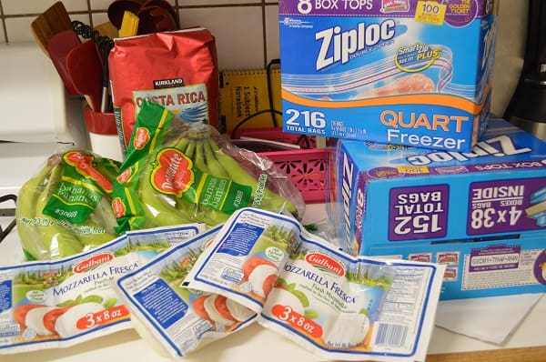 Read how one family shops for real food on just $330/month. The budget includes food and toiletries for four people! :: DontWastetheCrumbs.com #frugal #budgeting #realfood