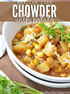 Slow Cooker Mexican Corn and Potato Chowder (gluten-free)