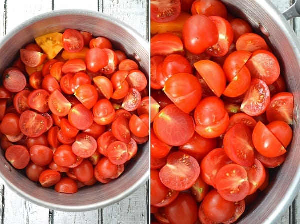 A simple and delicious recipe for homemade ketchup using fresh tomatoes. With a slow cooker, it's incredibly easy and you control the sweetness! :: DontWastetheCrumbs.com #realfood #recipe #budget