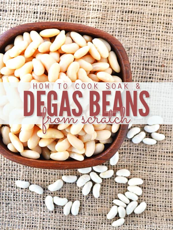Cooking beans from scratch can save you up to 60%. Learn how to do it with minimal time in the kitchen & how to eliminate the smelly gas from them too! :: DontWastetheCrumbs.com