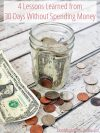 Lessons Learned No Spending Challenge