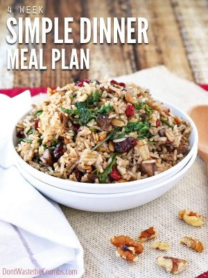 Simple Dinner Eating Plan for November