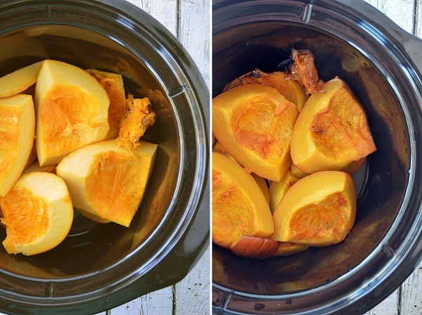 Pumpkin puree can be made from scratch using a simple pie pumpkin.