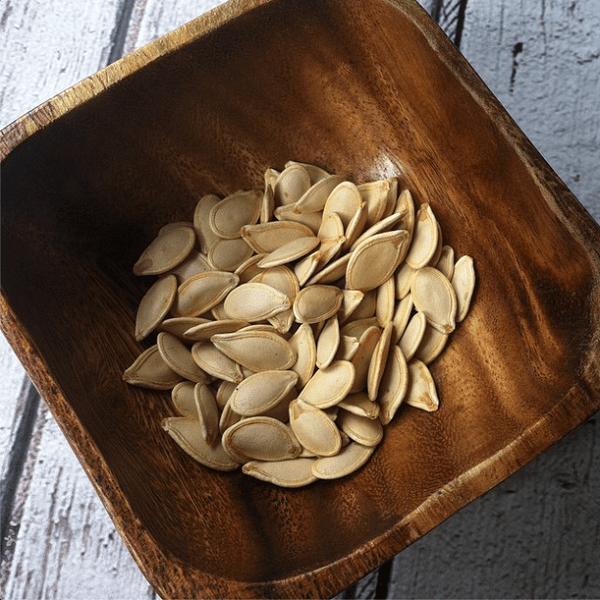 Roasted pumpkin seeds are jam packed with nutrition. They're rich in antioxidant vitamin E as well, which is so good for you!