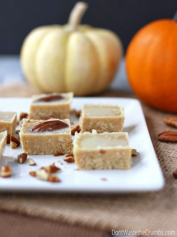 for a quick and easy holiday dessert? This easy homemade pumpkin fudge ...