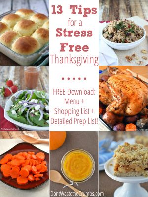 13 Tips for a Stress Free Thanksgiving + Free Meal Planning Download