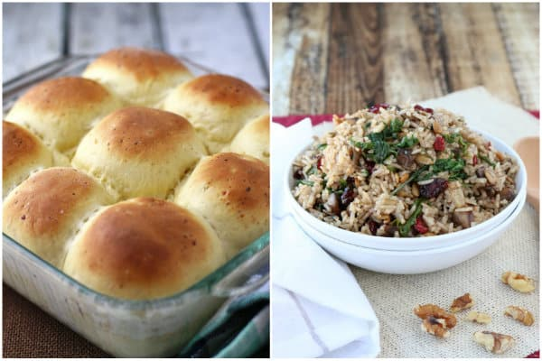 Thanksgiving Rolls and Autumn Rice