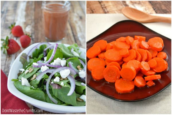 Thanksgiving Salad and Carrots