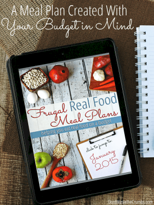 Finally! A Meal Plan Created With Your Budget in Mind.