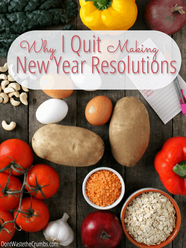Aren't you tired of making resolutions and failing? Stop the madness and instead of making huge commitments you can't see through, make one small baby step and succeed! Get help with two resolutions this year, eating better and saving money, in one fell swoop with a membership to Frugal Real Food Meal Plans.