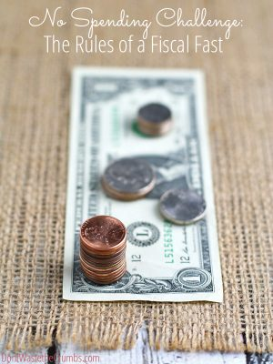 Fiscal Fast (aka No Spending Money): The Rules and an Invitation