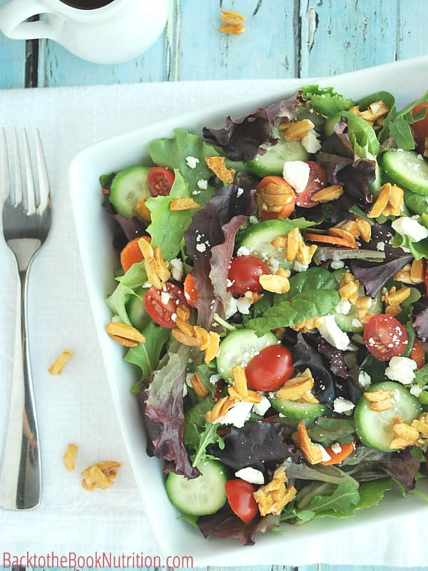 Hone Roasted Almonds on Salad