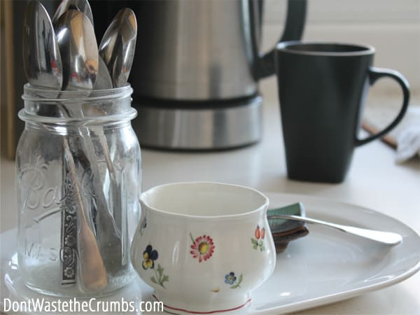 """Bulk shopping and appliances can clutter a kitchen, but these """"rules"""" for organizing a real food kitchen keep your kitchen clean, efficient and working for you! :: DontWastetheCrumbs.com"""