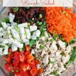 Buffalo Chicken and Bacon Ranch Salad