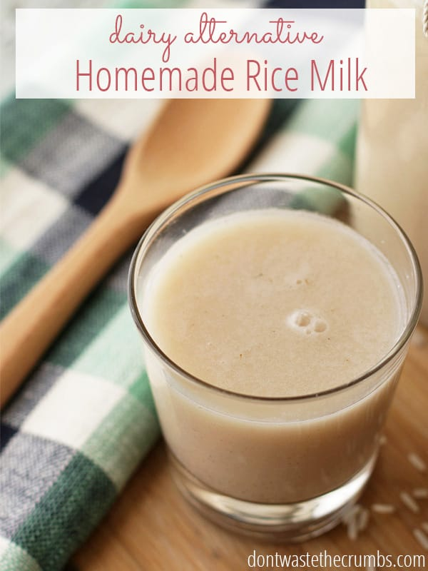 Dairy alternative homemade rice milk - Six alternative uses of rice at home ...