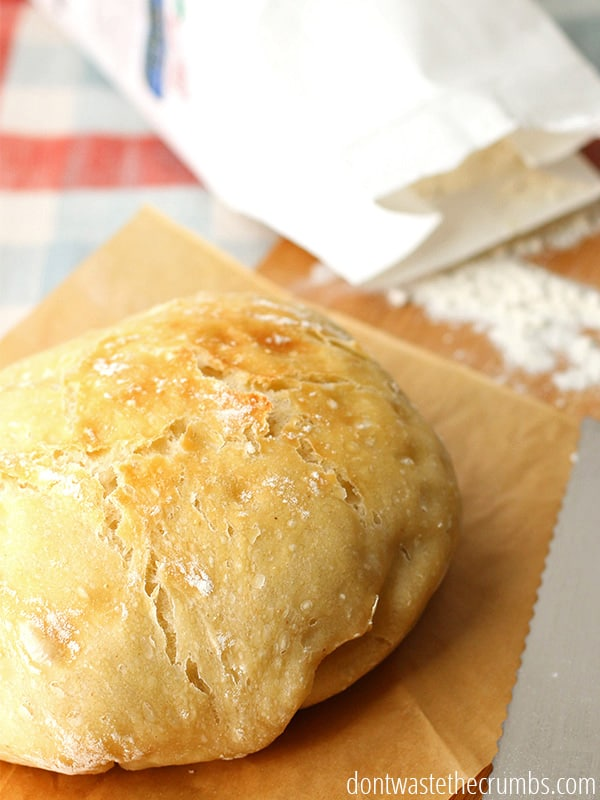 Classic artisan bread is also no knead bread. How awesome is that?? Simple, easy, and delicious.