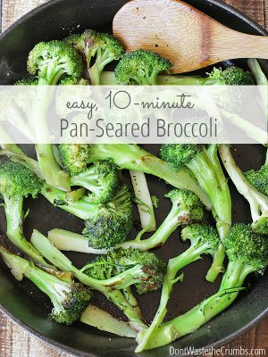 Easy 10 Minute Pan Seared Broccoli