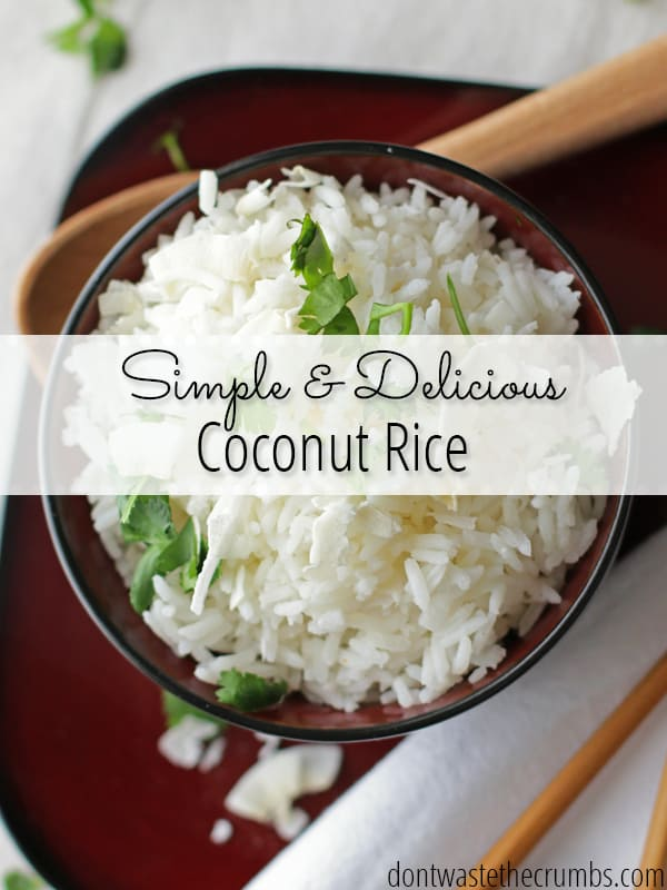 This simple and easy recipe gives you the most delicious coconut rice your taste buds will ever encounter. Only takes a few minutes for your family to enjoy!