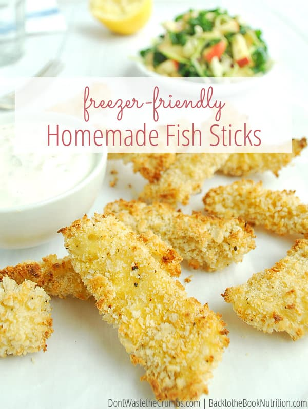 My kids devour this easy recipe for homemade fish sticks, plus they're so much healthier than store-bought. Made with real food, it's clean eating at its finest. We make a double batch for the freezer for a fast easy dinner during the week! :: DontWastetheCrumbs.com
