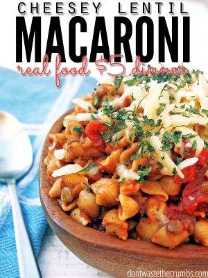{Yummy} Recipe:  Cheesey-Mexi Lentil Macaroni (a recipe from the pantry)