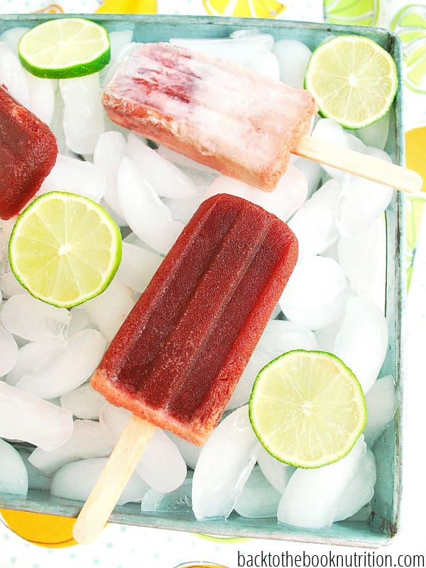 ... for homemade cherry limeade popsicles are like a cherry limeade