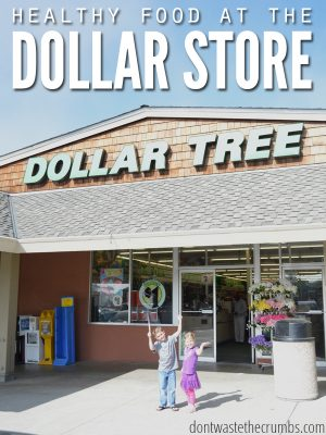 Shop, Eat and Save on Healthy Food at the Dollar Store