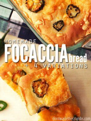 Focaccia Bread Recipe: Our Favorites Homemade Bread