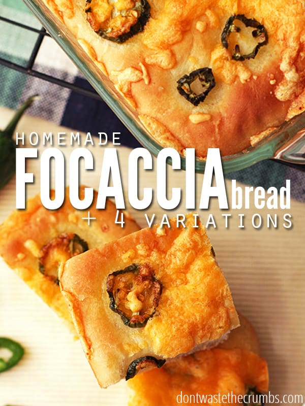 Save time and treat your taste buds to this tasty homemade focaccia bread recipe. Easy to make, and takes very little time!