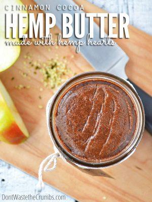 Cinnamon Cocoa Hemp Heart Butter