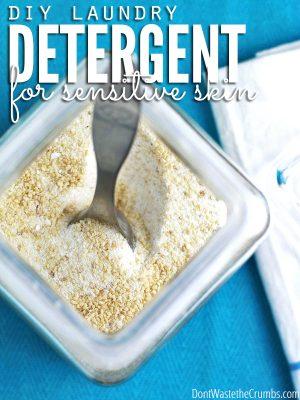 Homemade Laundry Detergent (for sensitive skin): DIY
