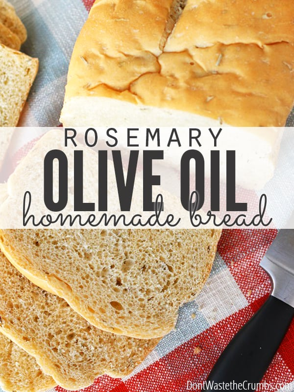 Rosemary Olive Oil Bread - Our go-to family favorite recipe when we're craving homemade bread. Such a simple recipe, but it'll WOW! your guests! :: DontWastetheCrumbs.com