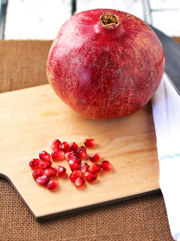 Pomegranates in season are great because they are affordable and delicious! When you learn how to cut a pomegranate, you will see how quick and easy it is to do it yourself!!!