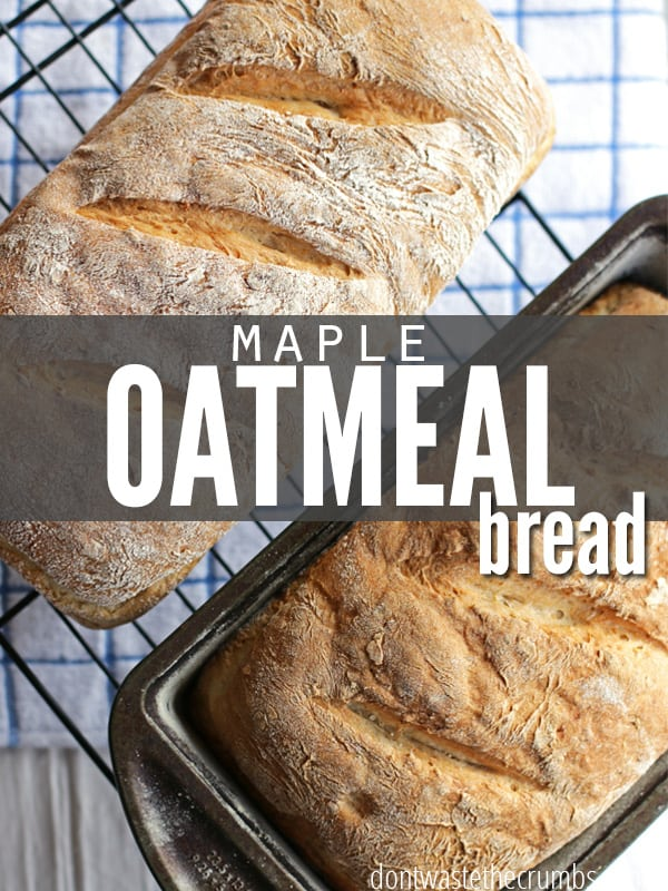 This simple, easy and delicious maple oatmeal bread is perfectly sweetened with a hint of maple syrup. A crowd pleaser and family favorite :: Dontwastethecrumbs.com