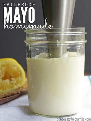 Fail Proof Homemade Mayo in 2 Minutes