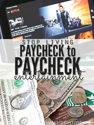 Stop Living Paycheck to Paycheck: Entertainment