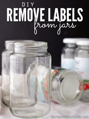 Remove Labels from Jars: A Simple DIY with One Ingredient