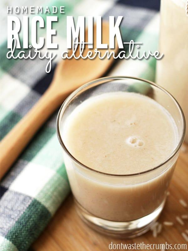 Dairy Alternative Homemade Rice Milk