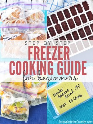 Step by Step Freezer Cooking Guide for Beginners - Cover