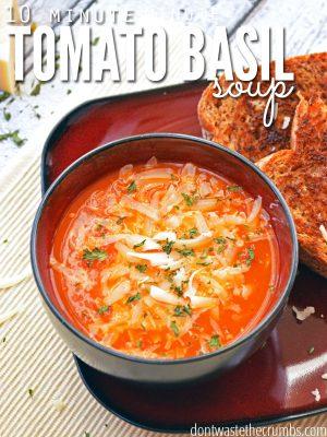 Recipe:  Tomato Basil Soup