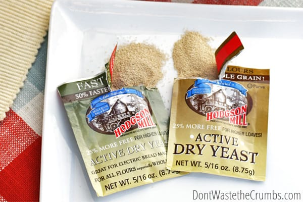 If baking with yeast scares you, read this! A simple, straight-forward guide to using yeast. Talks about the different types, how to store it and how to save when buying! :: DontWastetheCrumbs.com